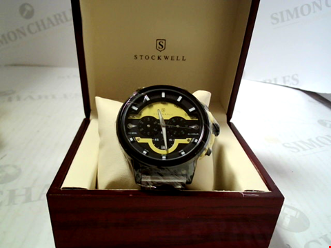 Lot 5637 DESIGNER STOCKWELL CHRONOGRAPH WATCH WITH ACRYLIC STRAP RRP £750.00