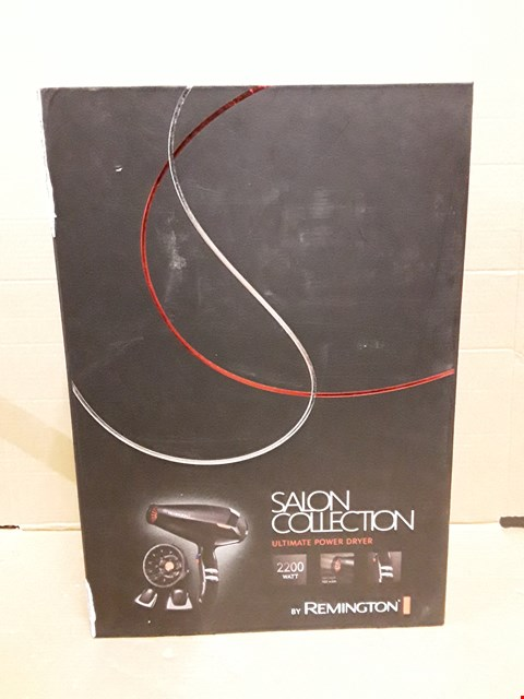 Lot 1116 BOXED REMINGTON ULTIMATE POWER HAIR DRYER