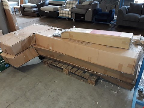 Lot 1424 PALLET OF ASSORTED FLAT PACK FURNITURE TO INCLUDE BED FRAMES AND BED PARTS