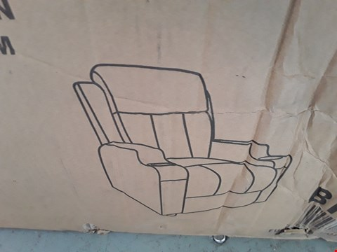 Lot 100 DESIGNER BOXED STUDIO BROWN LEATHER RECLINING ARMCHAIR  RRP £300.00