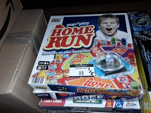 Lot 15 LOT OF 5 ITEMS TO INCLUDE,  HOME RUN POP N PLAY , SPACE AND BEYOND SCIENCE SET AND BATTLE IN THE DEEP ETC