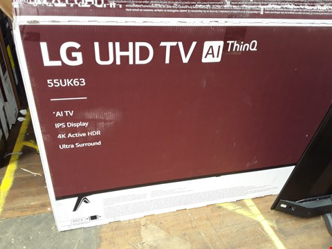 "Lot 1085 LG 55"" UHD 4K HDR SMART LED TELEVISION MODEL 55UK6300PLB RRP £1200.00"