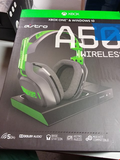 Lot 12185 ASTRO GAMING A50 WIRELESS DOLBY GAMING HEADSET - BLACK/GREEN