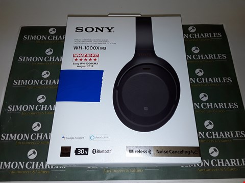 Lot 6211 SONY WH-1000XM3 WIRELESS NOISE CANCELLING HEADPHONES