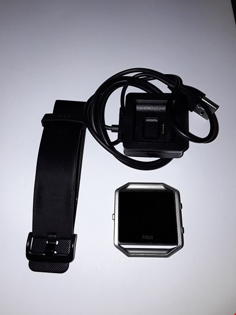 Lot 702 FITBIT BLAZE WATCH FB502 - SILVER, BLACK SPORTS STRAP, CHARGER INCLUDED