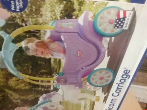 Lot 3094 LITTLE TIKES MAGICAL UNICORN CARRIAGE RRP £149.99