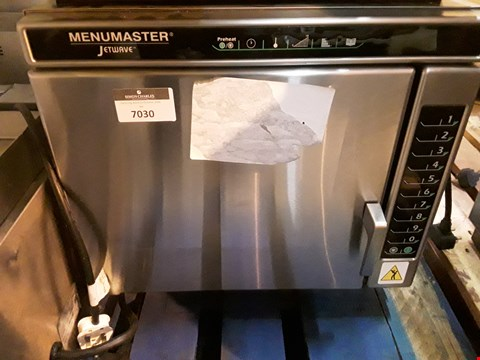 Lot 7030 MENUMASTER JETWAVE HIGH SPEED COMBINATION MICROWAVE/OVEN