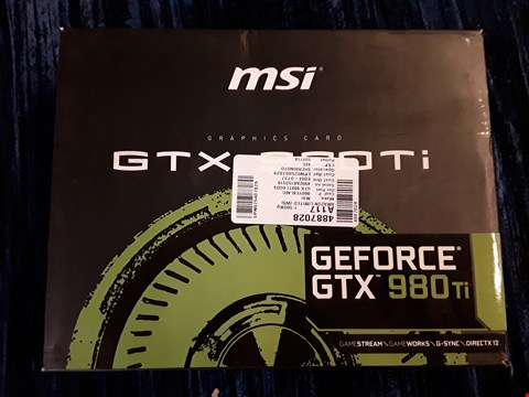 Lot 23 BOXED MSI GEFORCE GTX 980TI GRAPHICS CARD.