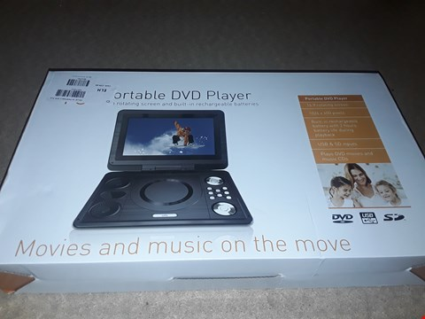 """Lot 2047 BOXED CELLO 10"""" PORTABLE DVD PLAYER WITH ROTATING SCREEN"""