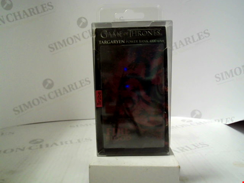 Lot 376 BRAND NEW GAME OF THRONES TARGARYEN POWER BANK 4000 MAH