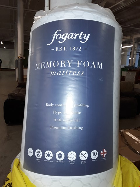 Lot 3041 QUALITY BAGGED FOGARTY MEMORY FOAM DOUBLE MATRESS 190X135