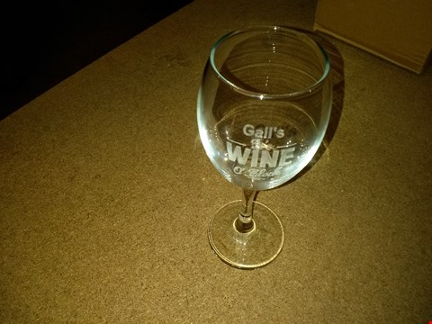 Lot 2485 PERSONALISED WINE O CLOCK WINE GLASS