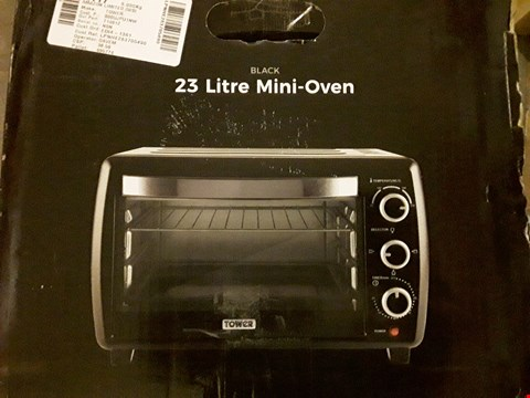 Lot 525 TOWER T14012 MINI OVEN AND GRILL, 23 L, 1500 W, BLACK