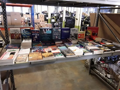 Lot 1034 CAGE OF A SIGNIFICANT QUANTITY OF ASSORTED FICTION AND NON-FICTION BOOKS TO INCLUDE THE HANDMAID'S TALE, AMERICAN FASCISTS, DEAR ZOO, HOW CHURCHILL WAGED WAR ETC