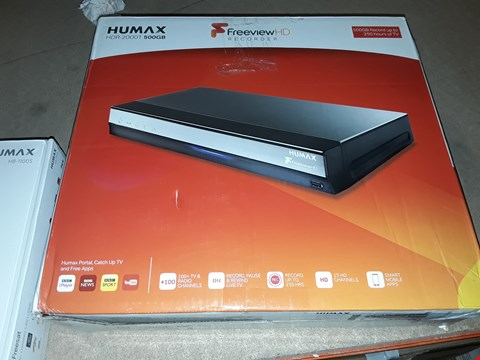 Lot 9170 HUMAX HDR -2000T SMART FREEVIEW HD TV RECORDER RRP £170