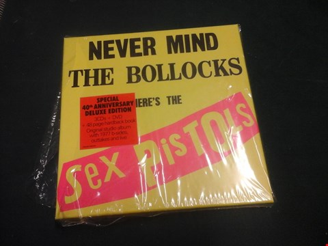 Lot 1033 'NEVER MIND THE BOLLOCKS HERE'S THE SEX PISTOLS' SPECIAL 40TH ANNIVERSARY DELUXE EDITION CD/DVD