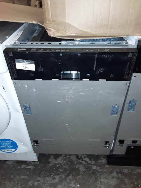 Lot 194 BEKO BUILT IN INTEGRATED DISHWASHER  RRP £128