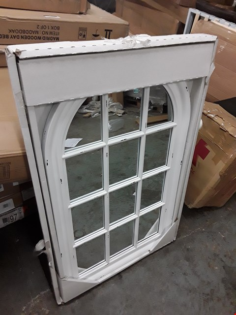 Lot 3144 BOXED WHITE FRAMED ARCHED MIRROR