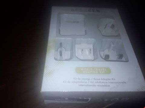 Lot 9337 7 BOXED BOOKEEN WORLD TRAVEL ADAPTER KITS