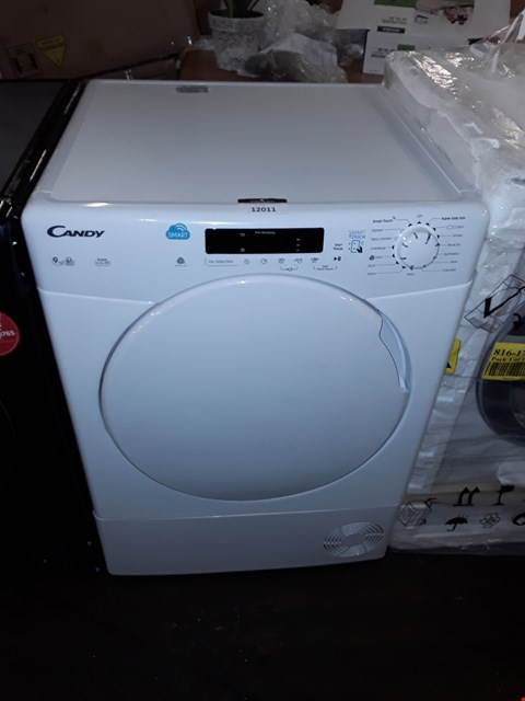 Lot 12011 CANDY 9KG WHITE TUMBLE DRYER MODEL: CS C9DF-80