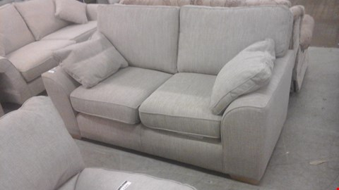 Lot 1244 DESIGNER GREY FABRIC 3 SEATER SOFA