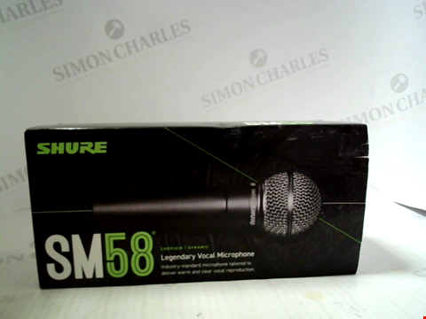 Lot 6010 SHURE SM58 CARDIOID DYNAMIC VOCAL MICROPHONE