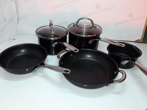 Lot 23 COOK'S ESSENTIALS STAINLESS STEEL COOKWARE SET - BLACK