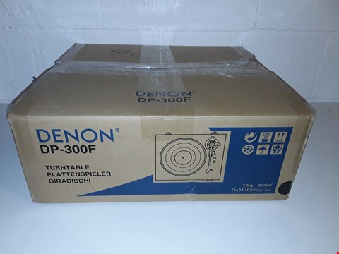 Lot 37 BOXED DENON DP-300F FULLY AUTOMATIC TURNTABLE SYSTEM