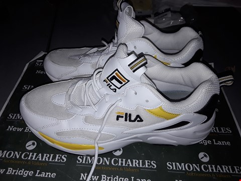 Lot 9021 FILA , FOOTWEAR SIZE UK 10 IN WHITE & YELLOW