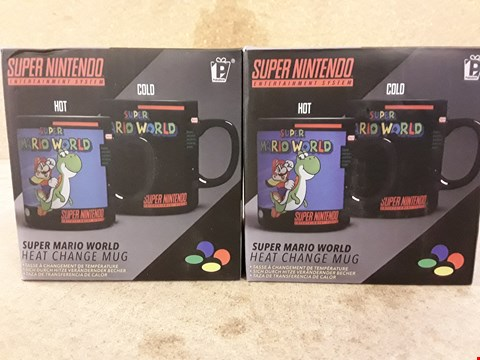 Lot 310 2 BRAND NEW BOXED SUPER NINTENDO COLOUR CHANGE MUGS