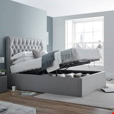Lot 3047 BOXED DESIGNER WILSON OTTOMAN 4FT6 BED IN GREY (5BOXES )