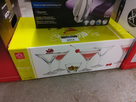 Lot 9013 BOXED SET OF FUSION GLASSES