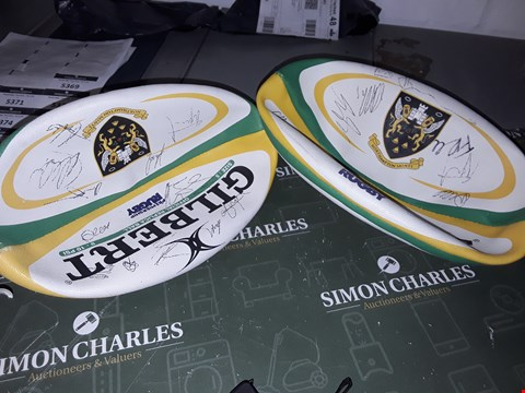 Lot 5279 2 SIGNED RUGBY BALLS NORTHAMPTON SAINTS