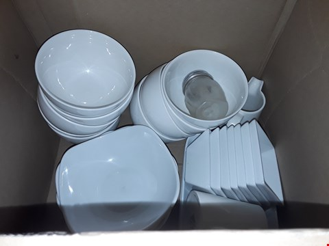 Lot 8109 BOX OF APPROXIMATELY 23 ASSORTED BOWLS, SAUCE POTS AND MILK JUGS