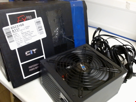 Lot 15294 CIT FX PRO 600W POWER SUPPLY NON MODULAR, APFC, JAPANESE TK MAIN CAPACITOR, 80 PLUS BRONZE, 88% EFFICIENCY, 14CM COOLING FAN, FOR PRO GAMERS