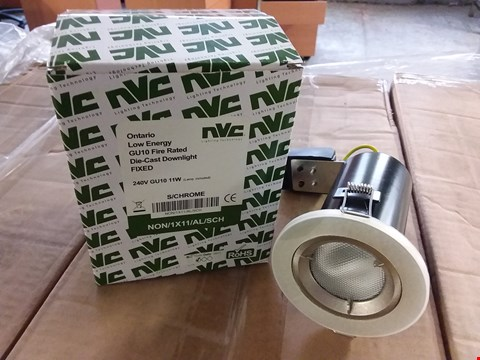 Lot 3062 BOX OF APPROXIMATELY 20 NVC ONTARIO GU10 LOW ENERGY DIE-CAST DOWNLIGHTS