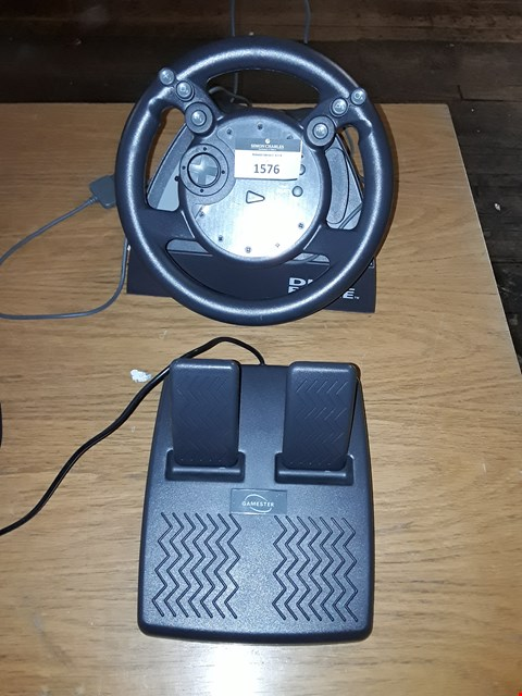 Lot 331 GAMESTER DUAL FORCE STEERING WHEEL AND PEDALS