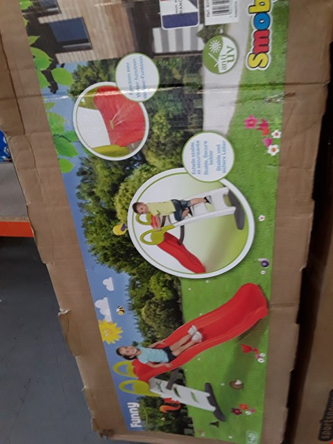 Lot 96 BOXED SMOBY FUNNY SLIDE RRP £175.00