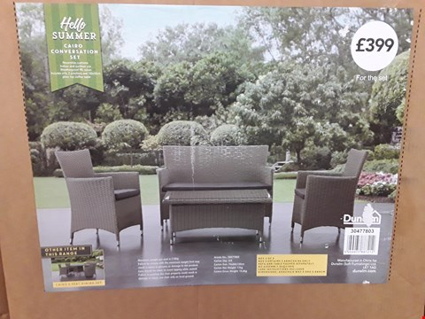 Lot 3084 BOXED HELLO SUMMER CAIRO CONVERSATION SET (ARMCHAIRS ONLY)