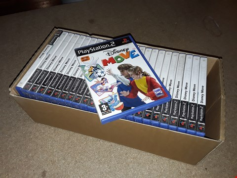 Lot 4169 LOT OF APPROXIMATELY 25 DISNEY MOVE GAMES FOR THE PLAYSTATION 2