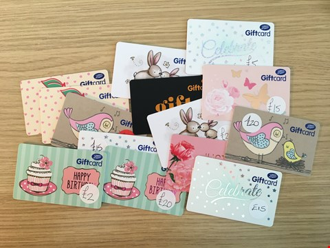 Lot 7 14 BOOTS GIFT VOUCHERS.  TOTAL VALUE £217