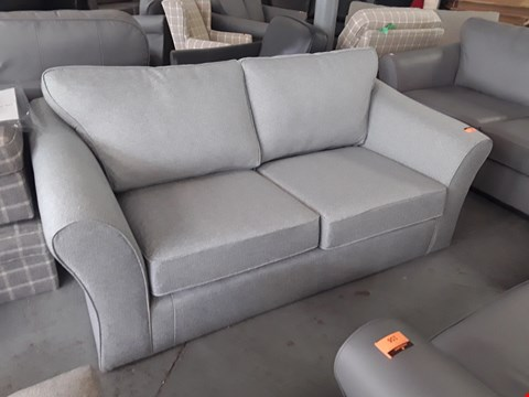 Lot 157 QUALITY BRITISH DESIGNER ABBEY GREY FABRIC TWO SEATER SOFA