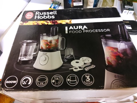 Lot 26 BOXED RUSSELL HOBBS AURA FOOD PROCESSOR