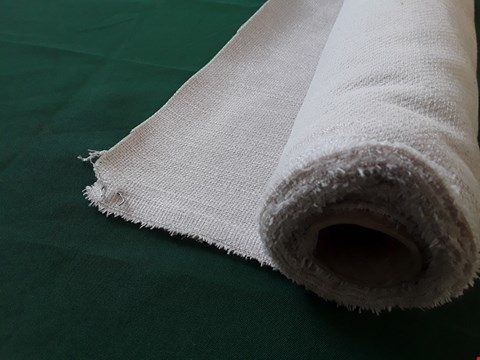 Lot 2025 ROLL OF CREAM WEAVE FIRE RETARDANT MATERIAL APPROXIMATELY 140cm × SIZE UNSPECIFIED