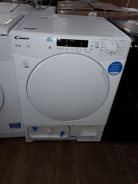 Lot 11056 CANDY 9KG WHITE TUMBLE DRYER MODEL: CS C9DF-80