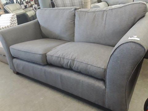 Lot 31 QUALITY BRITISH DESIGNER GREY FABRIC METAL ACTION SOFA BED