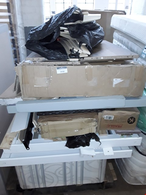 Lot 3058 PALLET OF ASSORTED FLAT PACK FURNITURE/PARTS