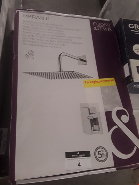 Lot 4 BOXED COOKE AND LEWIS MERANTI THERMOSTATIC RECESSED MIXER SHOWER   RRP £120