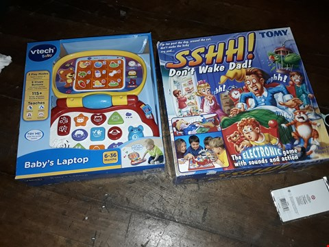 Lot 6076 SSHHH DONT WAKE DAD AND VTECH BABY'S LAPTOP