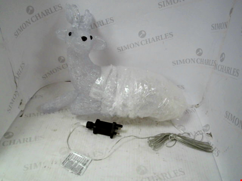 Lot 13890 LIGHT UP REINDEER WITH ANTLERS OUTDOOR CHRISTMAS DECORATION RRP £40.00